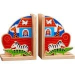 Wooden Bookends – Noah's Ark Theme