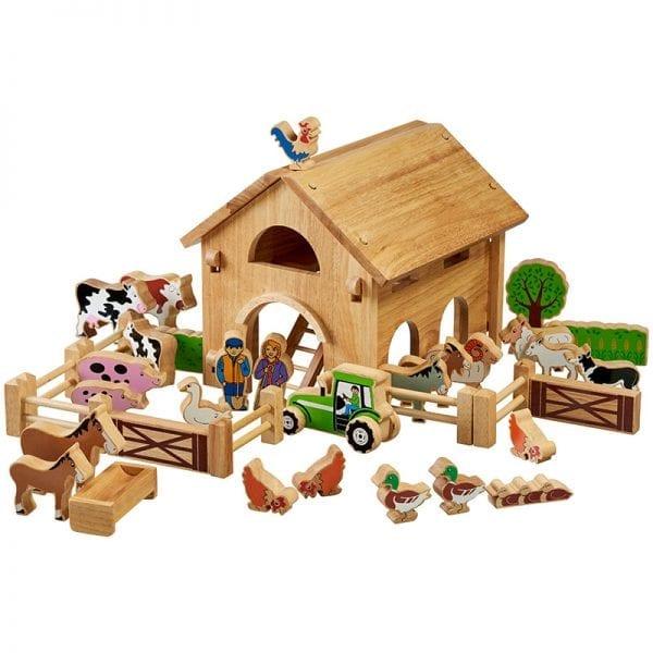 Wooden Toy Farm - Lanka Kade Farm, 34 Colourful Pieces