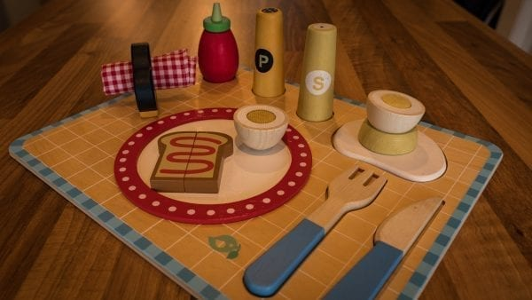 Toy breakfast tray