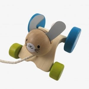 Plan Toys Hopping Rabbit – Wooden Pull Along Toy