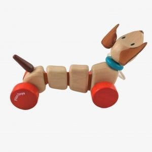 Plan Toys Happy Puppy – Pull Along Dog Toy