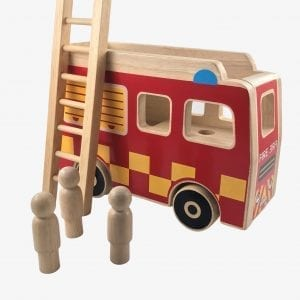 Wooden Fire Engine by Lanka Kade + 3 people