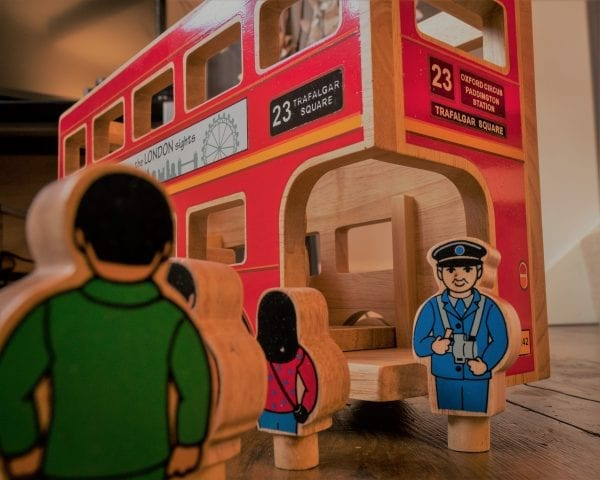 Wooden London Bus Toy - Lanka Kade Deluxe