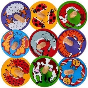 Countryside Animal Spinning Tops x 18