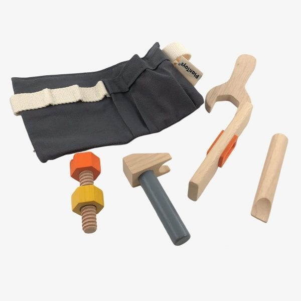 Plan toys tool belt wooden toy