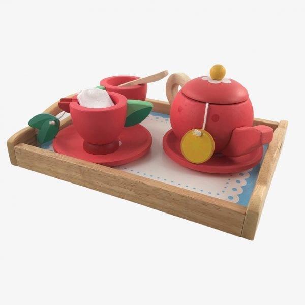 Wooden play tea tray