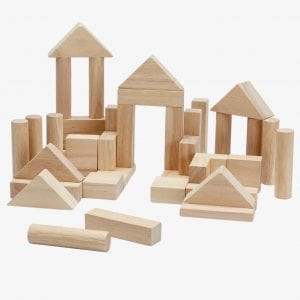 Plan Toys 40 Wooden Building Blocks