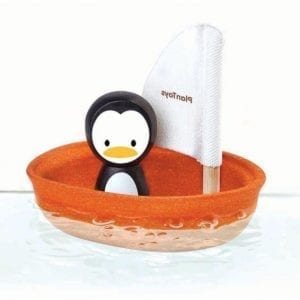 Bath Toy Boat – Plan Toys Penguin Sailing Boat