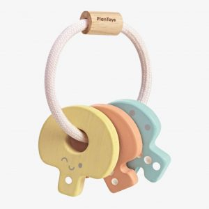 Plan Toys Baby Key Rattle – Pastel