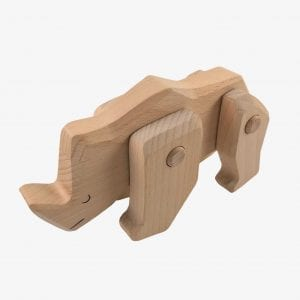 Bajo Wooden Rhinoceros