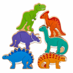 Lanka Kade Wooden Dinosaur Bag of 6