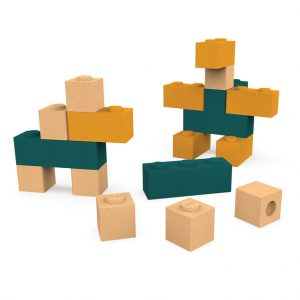 Elou Blocks 18 – Cork Toy Building Blocks