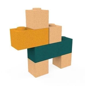 Elou Blocks 6 – Cork Toy Building Blocks
