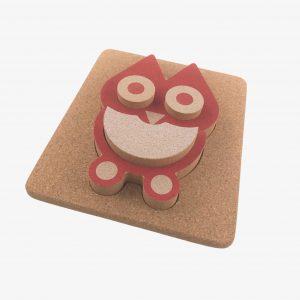 Elou 3D Owl Puzzle Cork Toy
