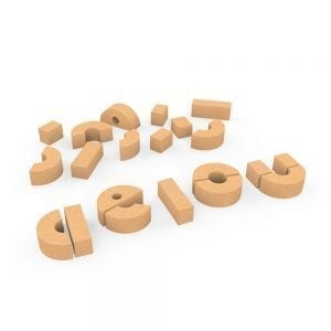 Elou Basic Vowels Cork Toy