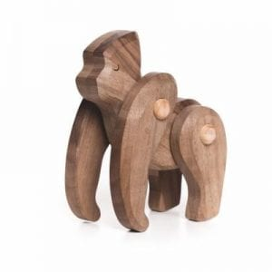 Bajo Gorilla Engangered Species Wooden Figure