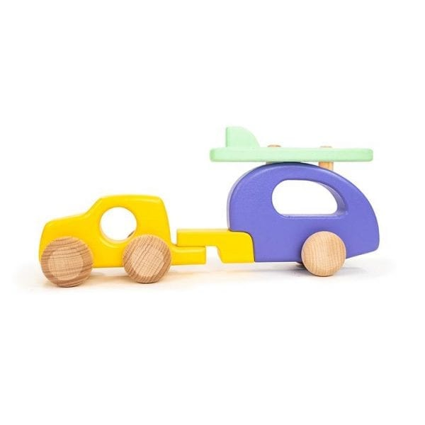 4WD car wooden toy