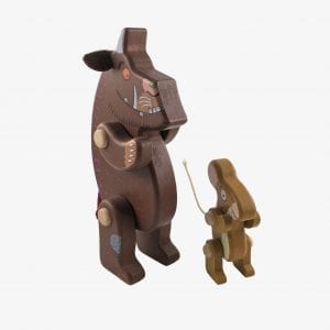 Large Bajo Gruffalo & Mouse Wooden Figures