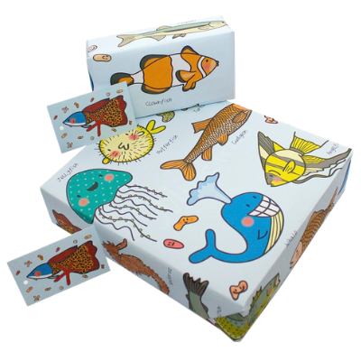 wooden toys gift wrapping