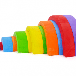 Bajo Rainbow Small – Colourfull Wooden Rainbow Toy