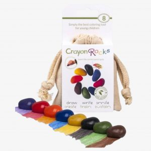 Crayon Rocks Eight – 8 Crayon Rocks in a Muslin Bag