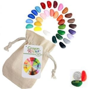 Crayon Rocks Thirty Two – 32 Crayon Rocks in a Muslin Bag