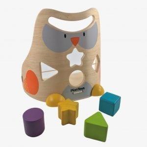 Wooden Shape Sorter – Plan Toys Owl Sorter