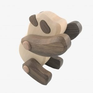 Bajo Panda Endangered Speices Wooden Figure