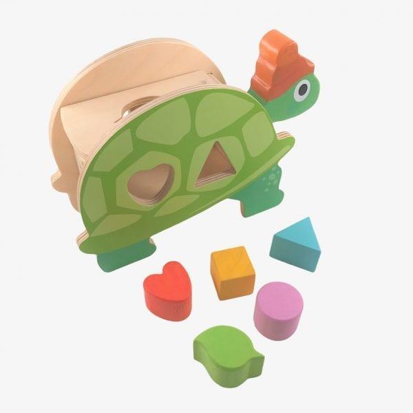 Tender Leaf Toys Toirtoise Shape Sorter