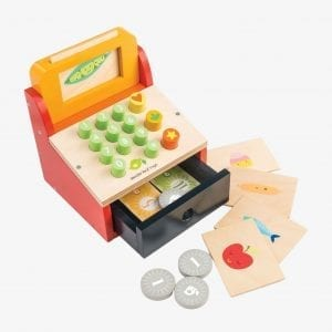 Wooden Till Toy with Money – Tender Leaf Toys