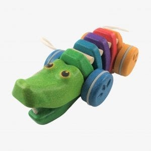 Plan Toys Rainbow Alligator – Wooden Pull Along Toy