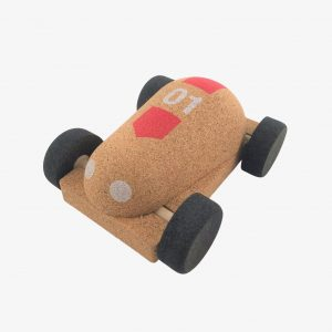 Elou Racing Car Natural Cork Toy