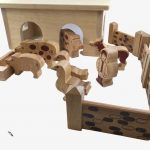 Lanka Kade Pig and Sheep Barn – 18 Natural Wooden Pieces