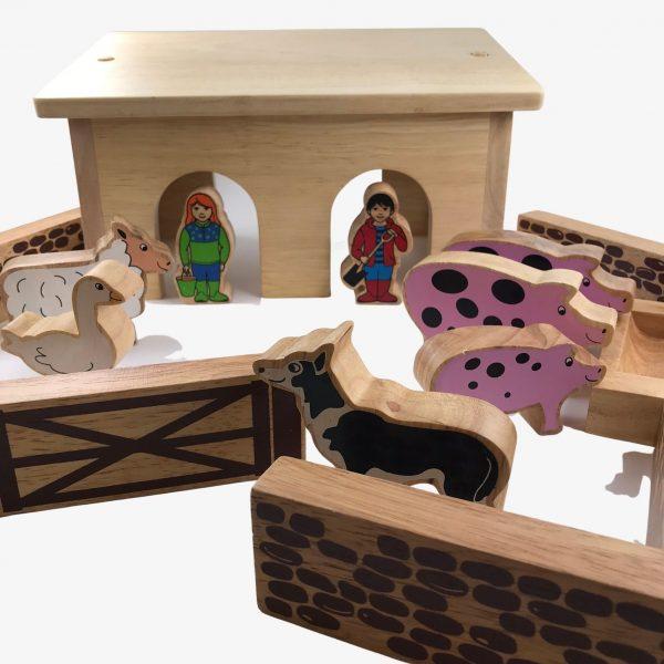 lanka kade pig and sheep barn with colourful pieces