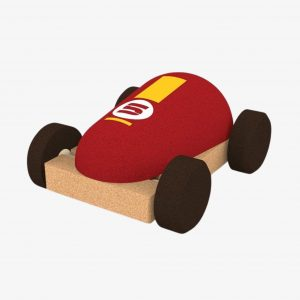 Elou Racing Car Red Cork Toy (broken seal)
