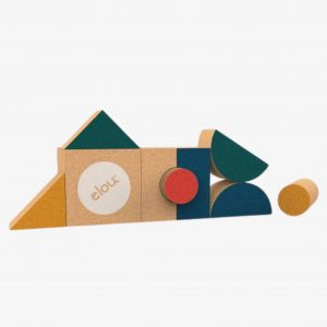 Elou Shapes 9 – Cork Building Blocks