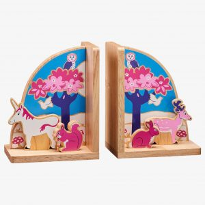 Enchanted Forest Wooden Bookends