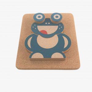 Elou 3D Frog Puzzle Cork Toy