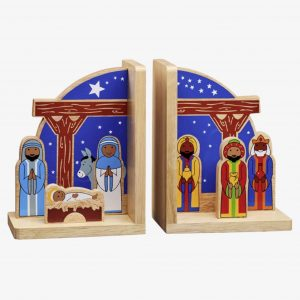 Nativity Wooden Bookends