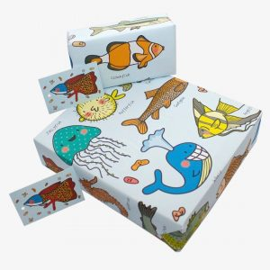 Re-Wrapped Fish Wrapping Paper