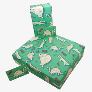 Re-Wrapped Dinosaur Wrapping Paper