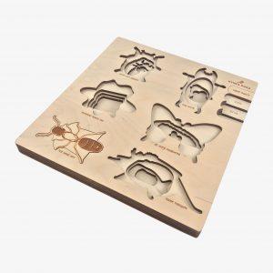 Stuka Puka Bugs 4-layer Wooden Puzzle