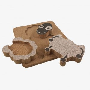 Elou 3D Sheep Puzzle Cork Toy