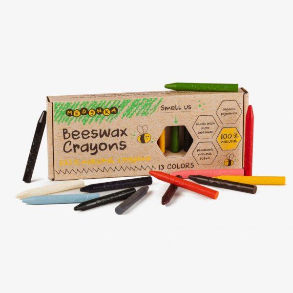 medenka classic beeswax crayons